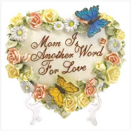 Heart Shape Butterfly Plaque for Mom