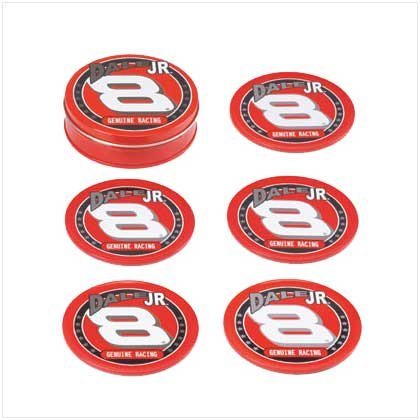 Dale Earnhardt Jr. Tin Coaster Set