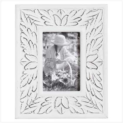 4x6 Inch White Distressed Frame