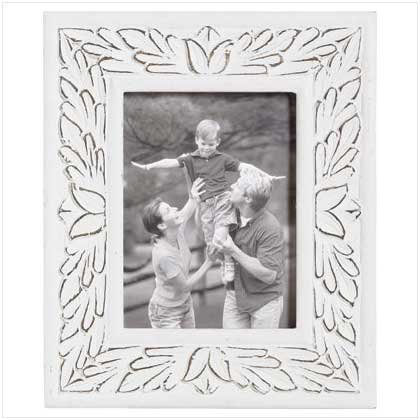 6x8 Inch White Distressed Frame