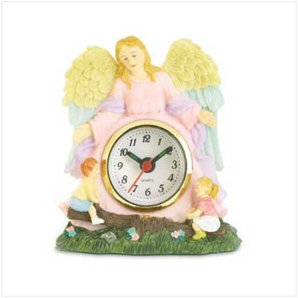Springtime Guardian Angel Clock