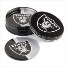 Oakland Raiders Tin Coaster Set