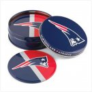 New England Patriots Tin Coaster Set
