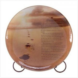 """""""Footprints In The Sand"""" Decorative Plate"""