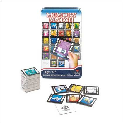 Memory Match Game In Tin Box