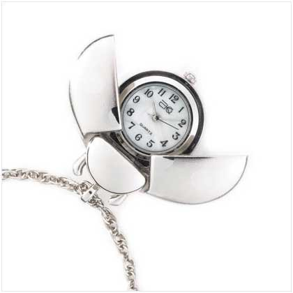 Silver Ladybug Pendent Watch