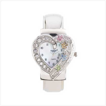 Sparkling Heart Cuff Watch