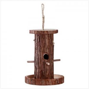 Hollow Log Birdhouse
