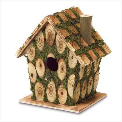 Moss Edged Birdhouse