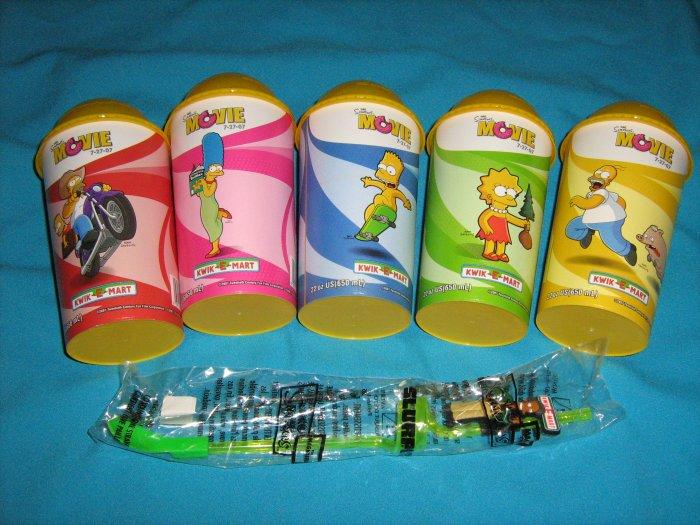 Simpson's Movie Kwik E Mart Collector Cups + Bonus