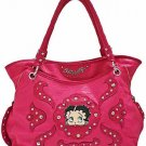 Red Betty Boop fashion tote/rhinestones w/ Wallet