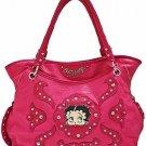 Red Betty Boop fashion tote/rhinestones w/ Wallet