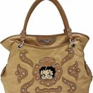 Brown Betty Boop fashion tote/rhinestones w/ Wallet