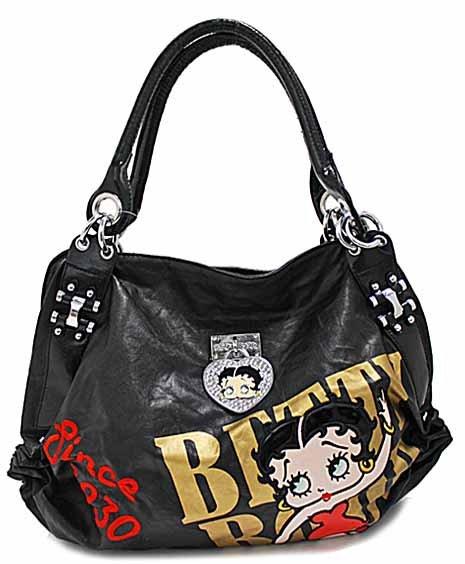 Betty Boop Black fashion tote w/ Wallet
