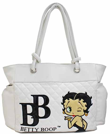 Betty Boop on quilted fashion satchel