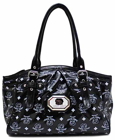 Betty Boop simulated leather fashion tote w/ Wallet