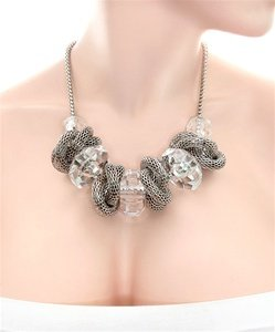 METAL CHUNK FASHION NECKLACE WFS000590