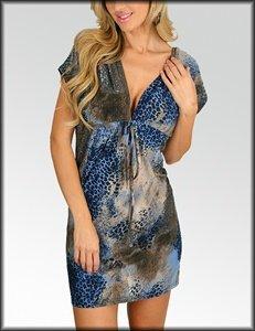 Cheetah Empire Dress (C180)