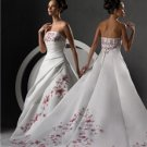 Lovely Strapless Sleeveless Weddding Dresses (00204575)