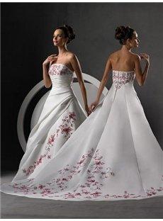 Lovely Strapless Sleeveless Weddding Dresses (00204575)