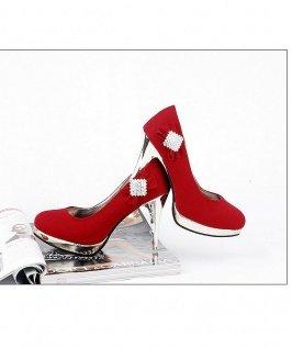 Diamond Embellished High Heels  sz 4.5-7 (CD11032918-1)