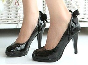 Bowknot Embellished Lace High Heel sz 4.5-7 (CD11053138)
