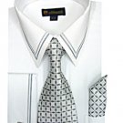 Mens white Dress shirt (SG22white-h)