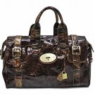 Patent fashion Brown satchel