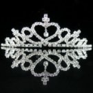 White Alloy Bridal Hair Hoop Tiara (07910075120)