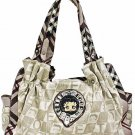Betty Boop fashion plaid handbag w/ matching Wallet BB206C-1259_WH