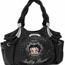 Betty Boop braided fashion handbag w/ matching wallet B11K-35_BK