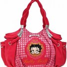 Betty Boop Fuchsia fashion braided handbag w/ matching wallet B11K-35_FU