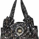 Betty boop fashion handbag w/ matching wallet  B11K-35_BZ