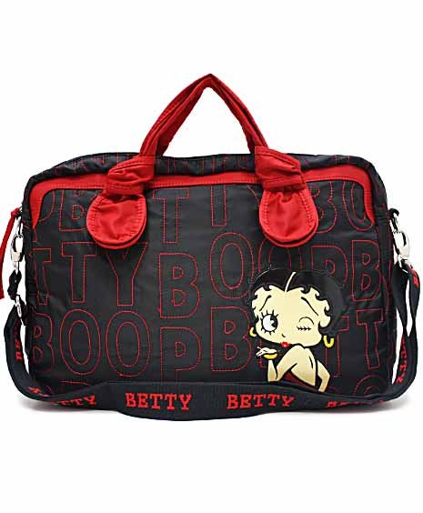 Betty Boop quilted fabric laptop case MJ104_BK/RD