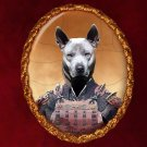 Thai Ridgeback Dog Jewelry Brooch Handcrafted Ceramic -  Samurai
