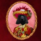 English Cocker Spaniel Jewelry Brooch Handcrafted Ceramic - Red Pirate