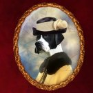 English Pointer Jewelry Brooch Handcrafted Ceramic - Noble Lady