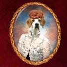 English Pointer Jewelry Brooch Handcrafted Ceramic - Retro Lady
