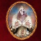 English Setter Jewelry Brooch Handcrafted Ceramic - Princess