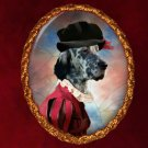 English Setter Jewelry Brooch Handcrafted Ceramic - Tudor Lady