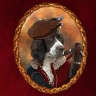 French Spaniel Jewelry Brooch Handcrafted Ceramic - Hunter