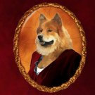 Eurasier Jewelry Brooch Handcrafted Ceramic - Noble Lady