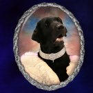 Flat Coated Retriever Jewelry Brooch Handcrafted Ceramic - Movie Star