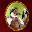 Fox Terrier Jewelry Brooch Handcrafted Ceramic - Falconer