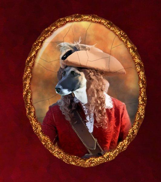 Fox Terrier Jewelry Brooch Handcrafted Ceramic - Musketeer