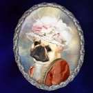 French Bulldog Jewelry Brooch Handcrafted Ceramic - Princess
