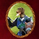 German Short Haired Pointer Jewelry Brooch Handcrafted Ceramic - Knight