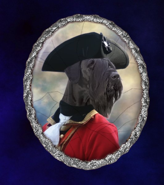 Giant Schnauzer Jewelry Brooch Handcrafted Ceramic - Admiral