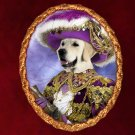 Golden Retriever Jewelry Brooch Handcrafted Ceramic - Pirate