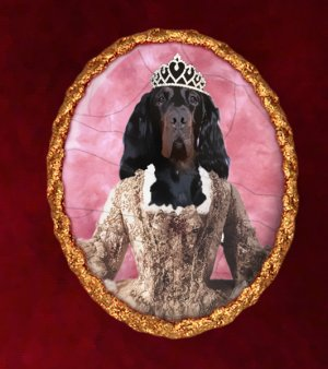Gordon Setter Jewelry Brooch Handcrafted Ceramic - Princess